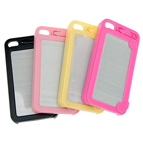 MAUBHYA Etch Sketch Magic Drawing Case With Drawing Pen For iPhone 4S 4