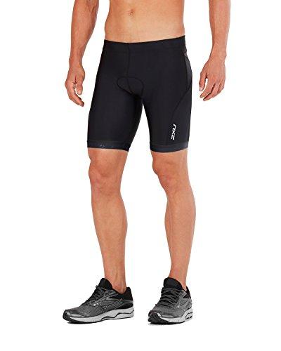 2XU Mens Active Tri Short, Black/Black, Medium