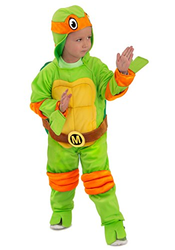 [Princess Paradise Baby Boys' Michelangelo Jumpsuit Deluxe Costume, As Shown, 12 to 18 months] (Ninja Turtle Suits)