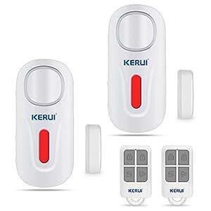 KERUI Door Window Alarm,D2 Remote Security Sensor System,Wireless DIY Magnetic Window Entry Contact Doorbell Easy Installation For Home Shop Company (2Pack)