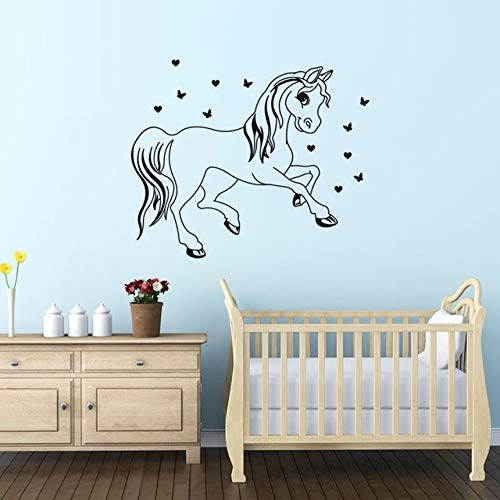 Stycars®, Wall Stickers Creative Children'S Room Diy Art S Home Decoration Vinyl Wallpaper Horse [Size: 54x58cm]