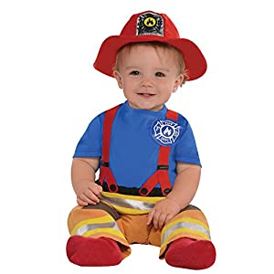 yolsun Fireman Role Play Costume for Kids 7 pcs Boys and Girls Firefighter Dress up and Play Set
