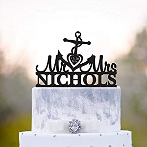 41YJuGXMxGL._SS300_ Beach Wedding Cake Toppers & Nautical Cake Toppers