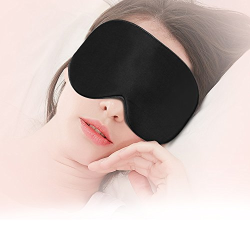 Natural Silk Sleep Mask Super-Smooth Soft Sleeping Eye Mask