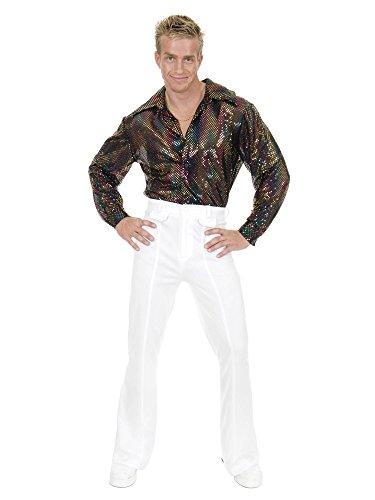 Sequin Shirt Adult Costumes - Charades Sequin Disco Shirt Adult -
