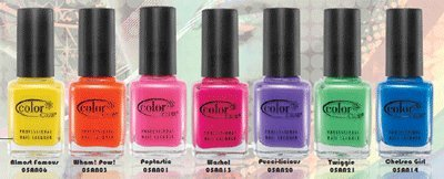 Amazon.com : Color Club Electro Candy Neon Collection Nail Lacquer ...