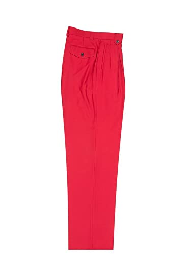 6943d72f679b Image Unavailable. Image not available for. Color: Tiglio Luxe Red Wide Leg,  Pure Wool Dress Pants 2576