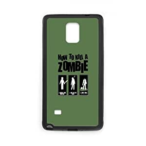 Samsung Galaxy Note 4 Cell Phone Case Black How To Kill a Zombie Mwzzr