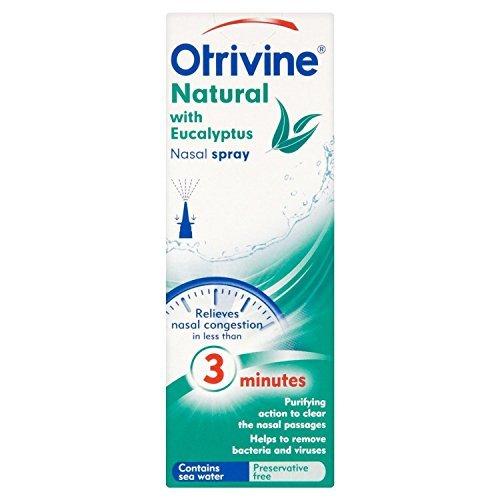 THREE PACKS Otrivine Natural with Eucalyptus Nasal Spray 20ml by Otrivine