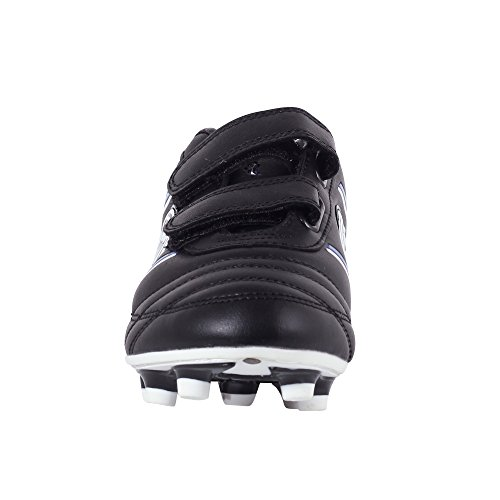 Optimum Tribal Boot-Velcro Moulded Stud, Botas de Fútbol para Niños Negro - negro (negro/azul)