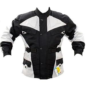 German Wear de Veste de Moto, Noir/Gris Clair, M