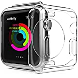 Protect Case for Apple iWatch 3 case, iwatch protector flexible TPU anti-scratch protective case 0.3mm hd clear ultra-thin cover for iWatch Series 2 & 2017 new apple watch Series 3 (42mm)