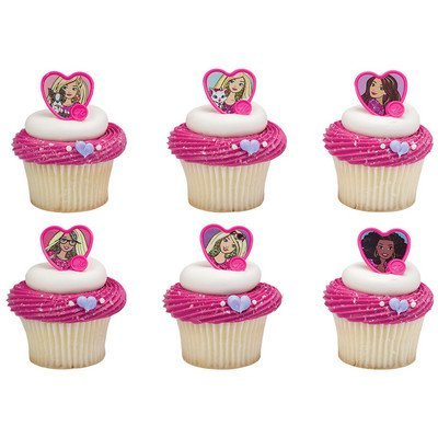Barbie™ Sweet Sparkles Cupcake Rings - 24 (Barbie Birthday Party Supplies)