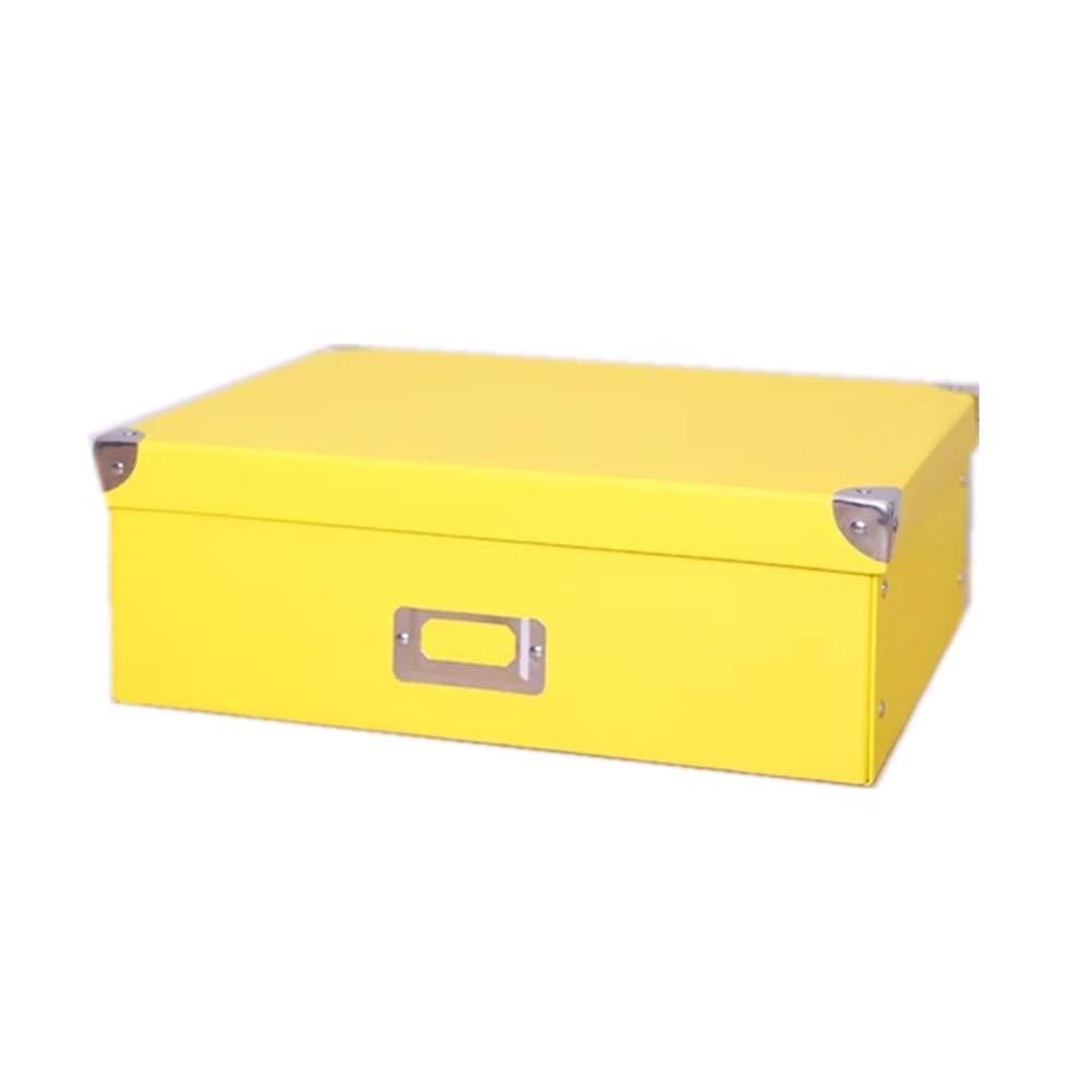 Guozi Caja de almacenamiento de cartón decorativo con tapa y ...