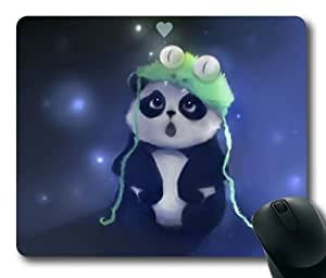 Panda Cute Art Drawing Rectangle mouse pad by Custom Service Your Best Choice