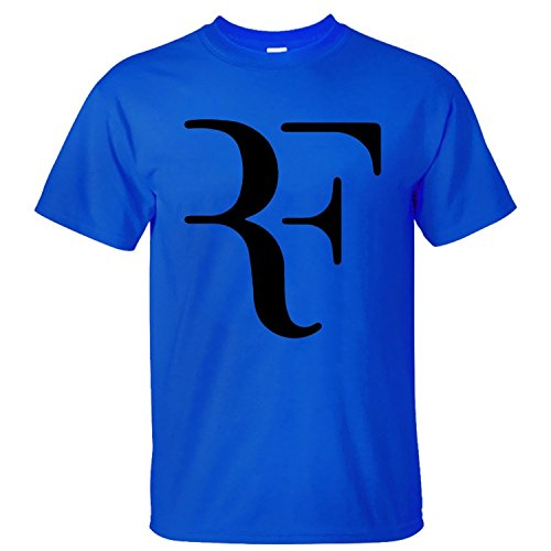Spreading Mens Roger Federer Blue T Shirt