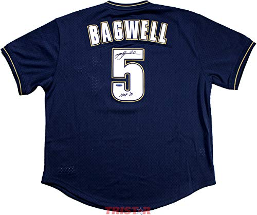 Jeff Bagwell Autographed Houston Astros M&N 1994 Throwback Navy Jersey Inscribed HOF 2017 TRISTAR COA ()