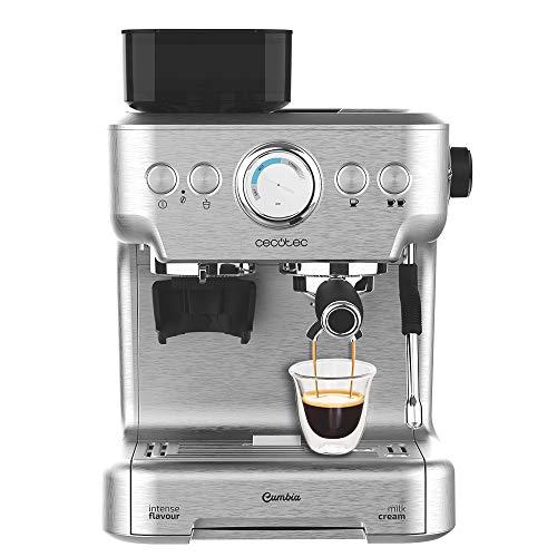Cecotec Cafetera Cumbia Power Espresso 20 Barista Aromax. Potencia 2900 W, 2 Sistemas de Calentamiento, Bomba de presión…