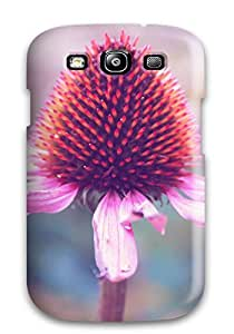Tpu Case Cover For Galaxy S3 Strong Protect Case - Flower Design