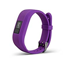 Newest Colorful Replacement Wristband and straps With Secure Clasps for Garmin Vivofit 3 / Vivofit Jr. (No tracker, Replacement Bands Only) (Purple)