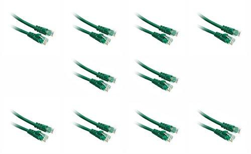 IBM Cat.5e Cable - RJ-45 Male - RJ-45 Male - 1.97ft / .6m - Green - 10 PACK ()