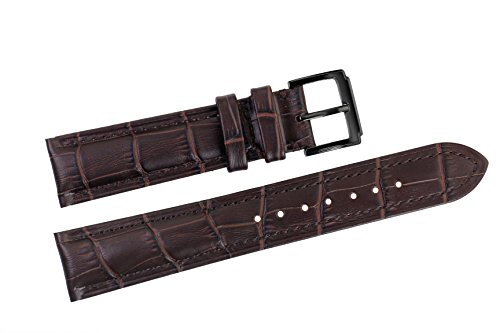 22mm-dark-brown-luxury-italian-leather-replacement-watch-straps-bands-grosgrain-padded-for-high-end-