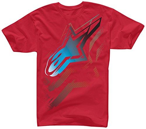 Alpinestars Mens Telepathic Short-Sleeve Shirt Medium Red