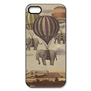 @ALL Elephant Design Cover Case For Iphone 5C(Black) with Best Silicon Rubber