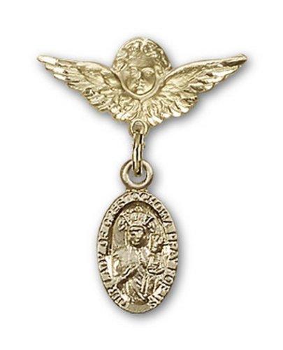 Icecarats Or Bijoux De Créateurs Rempli O / L De Charme De Czestochowa Ange Pin Badge 7/8 X 3/4