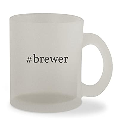 #brewer - 10oz Hashtag Sturdy Glass Frosted Coffee Cup Mug