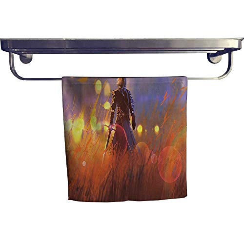 - Pool Gym Towels, Fearl Knight Sword in Field Animati Style Computer ,Good Ideal for The Kid's Room, a Guest Room W 10