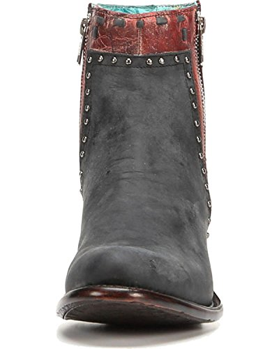 CORRAL Womens Zipper and Studs Short Boot Round Toe - A3232 Black i0hyuyv