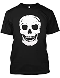 Adult Graphic Distressed Vintage Skull T Shirt