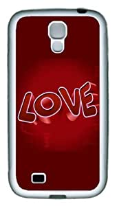 3D Love TPU Rubber Soft Case Cover For Samsung Galaxy S4 SIV I9500 White