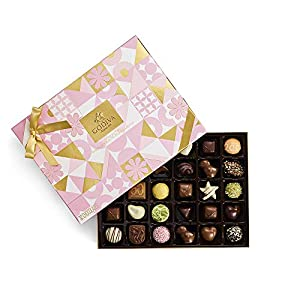 Godiva Chocolatier Assorted Chocolate Spring Gift Box, Gourmet Chocolates, Gifts for Her, Great as a Gift, 32 Piece