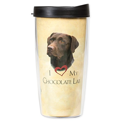 I Love My Chocolate Lab Dog Paws 16 Oz Tumbler Mug with - Lab Mug Chocolate