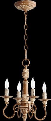 Quorum Lighting 6006-4-94, Salento 1 Tier Chandelier Lighting, 4LT, 80 Watts, French Umber