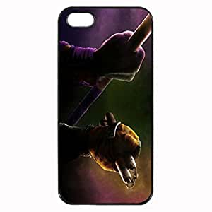 Teenage Mutant Ninja Turtles Unique Custom Image Case iphone 5 case , iphone 5S case, Diy Durable Hard Case Cover for iPhone 5 5S , High Quality Plastic Case By Argelis-sky, Black Case New