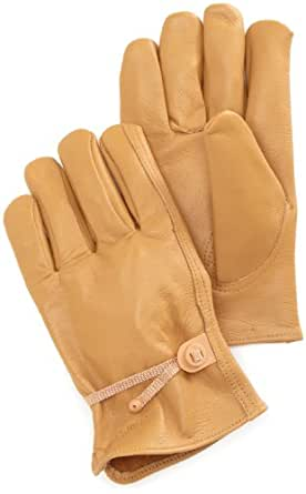 Carhartt Men's Full Grain Leather Driver Work Glove, Brown, Small