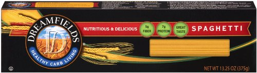 Dreamfields Pasta Healthy Carb Living, Spaghetti, 13.25 Ounce Boxes (Pack of 10)