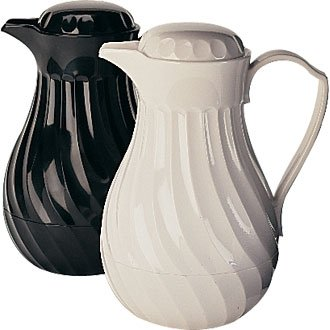Insulated Coffee / Tea Pot White - 40oz (Sold Singularly) - heavy duty plastic to prevent breakages and keep the contents warm for up to 4 hours!