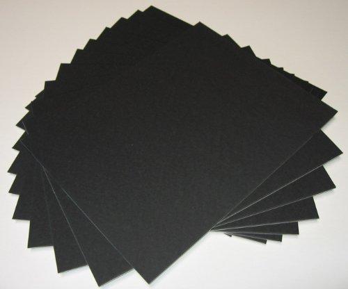 - 50 11x14 UNCUT mat matboard BLACK Color