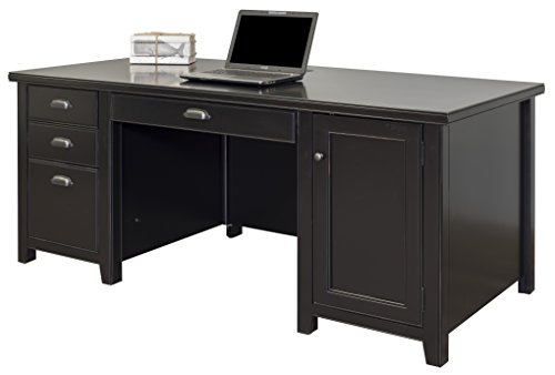 Martin Furniture Tribeca Loft Double Pedestal Computer Desk, Black ()