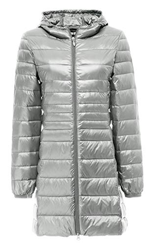 VOGRYE Women's Hooded Packable Ultra Light Weight Down Coat