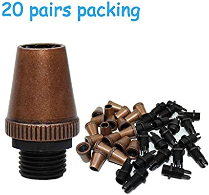 20 Pairs Bronze CW-MART Metal Strain Reliefs for Pendant Lighting Lamp Wire Cord Grips Connector Ceiling Fixtures Holders Socket