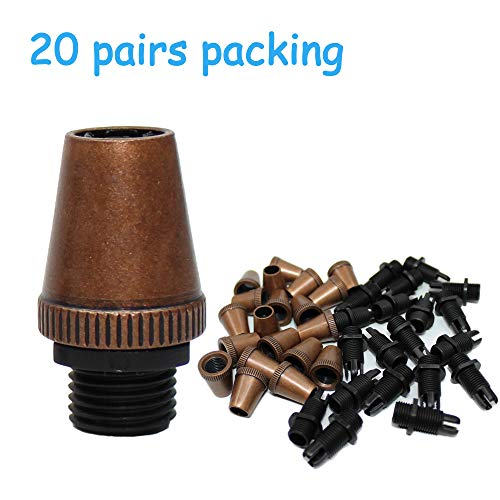 Strain Reliefs Metal Wire Cord Cable Glands 20 Pairs Antique Copper Pendant Light Socket for Lamp Power Cable Connector