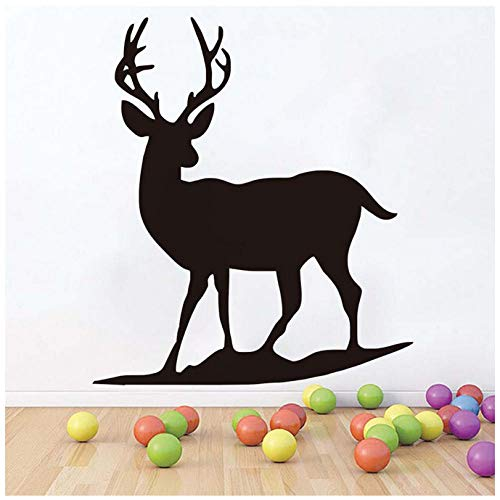Wall Sticker Deer for Kids Rooms Silhouette Black Self Adhesive Animals Wall Decals Wallpaper Nursery Home Decor 5866Cm