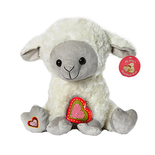 My Baby's Heartbeat Bear - Lamb Stuffed Animal w/ 20 sec Voice Recorder - Lil 8