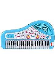 37 Tuşlar Çocuklar Müzikal Piyano Elektronik Piyano Klavye Oyuncak Enstrüman Oyuncak krofon ile Erkek Kız 3 Yaş Üstü MAYIS