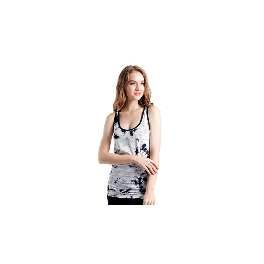 Semath Women's Workout Camisole Round Neck Racerback Tank Top 1,4 6 Pack
